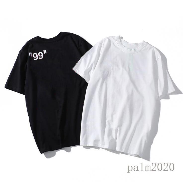 Moda Erkek T-Shirt Tops Yaz 99 Graffiti Kısa Kollu Gelgit Marka Gevşek Yuvarlak Boyun Erkekler Tees M-XXL