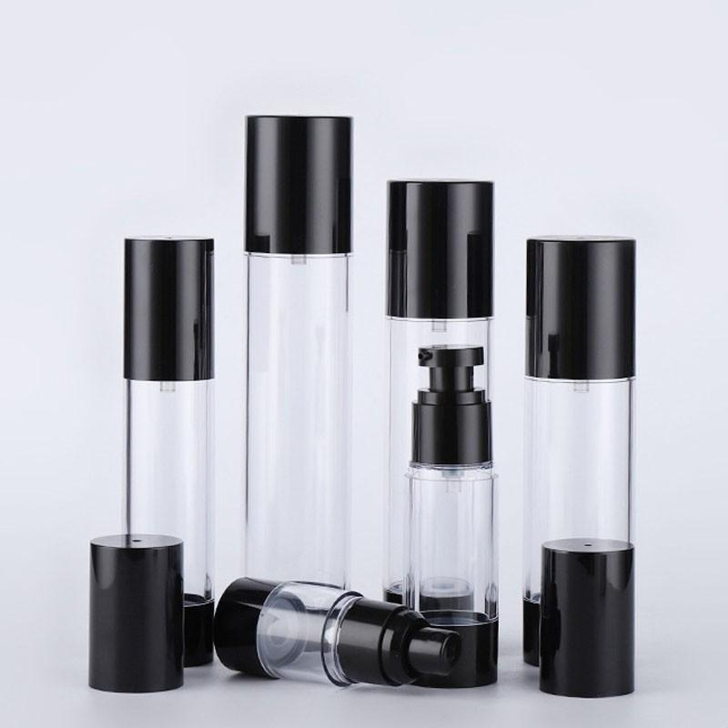 15 30 50 80 100 100 120 ml Clear Cosmétic Creetic Cream Pompense Taille de voyage Distributeur Récipients remplissables / Bouteille de pompe de base pour shampoing