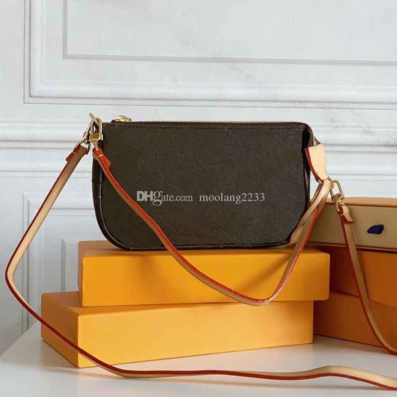 المرأة المصممين المصممين حقائب 2021lassic السيدات حقيبة الكتف حقيبة مخلب القابض حقيقي حقيقي حقيقي جودة عالية اثنين الأشرطة محفظة مع مربع