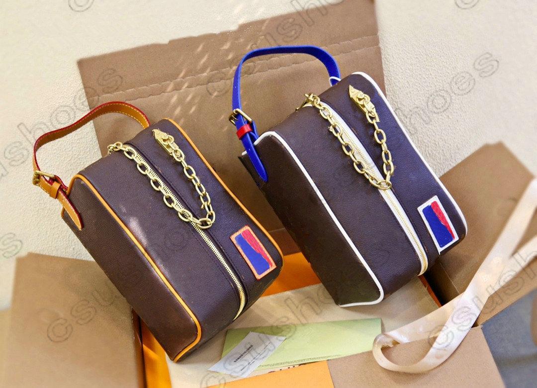 Cloakroom dopp كيت سوسيتيك حقيبة بوشه تواليت M45588 الحصري أصعب قطعة للحصول على رجل حقيبة أدوات الزينة حقيبة مستحضرات التجميل حقيبة ماكياج المرأة M85149
