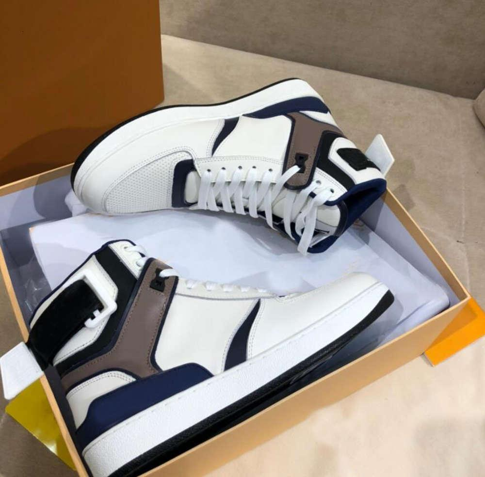 Moda Designer Luxo Homens Mulheres Sneaker Rivoli Sneaker Boot Sapatos Casuais High Top Pares Sapatos Esportivos Atacado Treinadores Vintage Tamanho 35-45