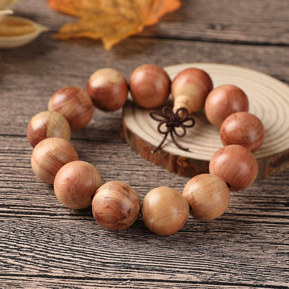 Natural semi red cedars, Buddhist beads, calligraphy, play, rosary, temple, unpainted men's hand ornaments