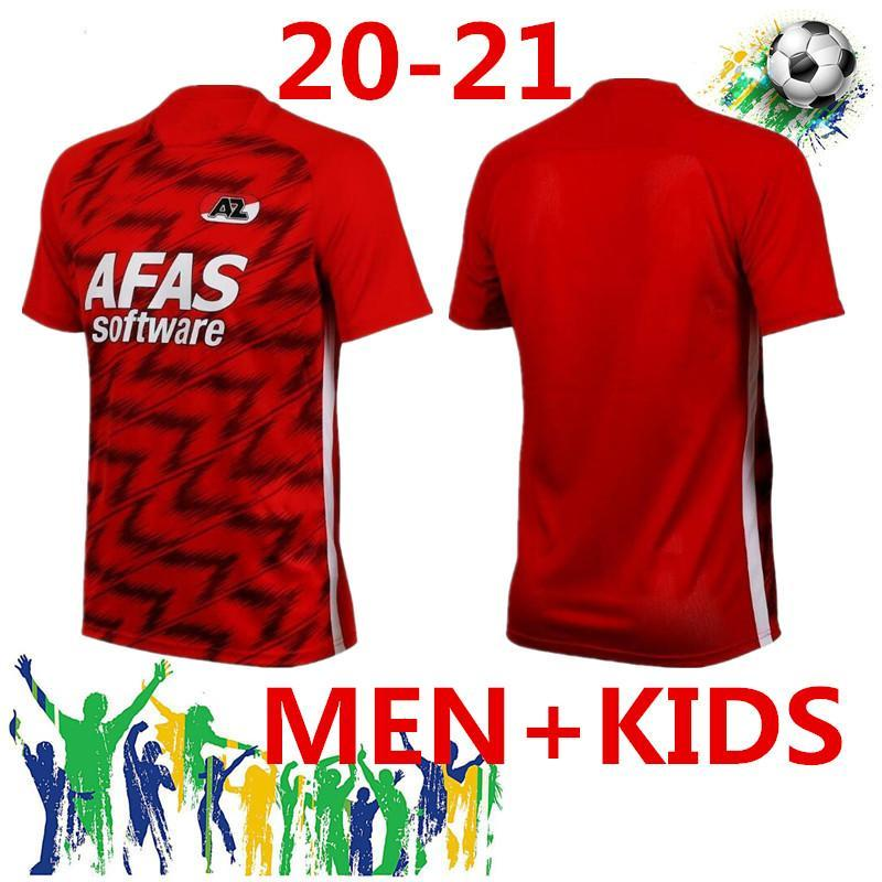 Men20-21 AZ Alkmaar Home Soccer Jersey 2020 2021 Stengs de Wit Stengs Boadu Camisa de Futebol AZ Alkmaar Camiseta de Futbol Maillot De Foot Cam