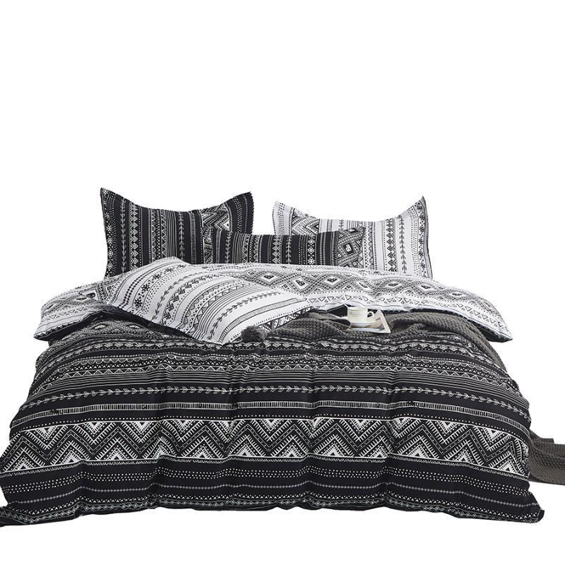 Ostyo Nordic Duvet Cover King Size Luxus Schwarze Bettwäsche Set Full Bohemia Quilt Doppelbett Einzelkönigin Bettwäsche Sets