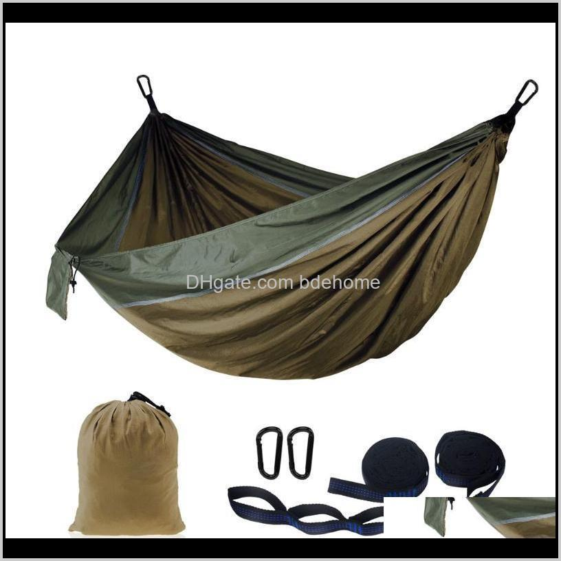 Activities Leisure Games Sports & Outdoors Drop Delivery 2021 Outdoor Portable Customize Printing Pattern Travel 210T Nylon Camping Hammock A