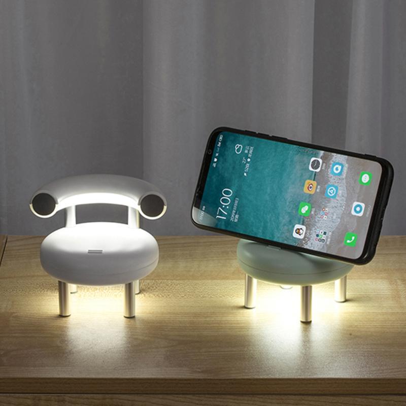 Gece Işıkları Okuma LED Işık Taşınabilir Lamba Yaratıcı Sandalye Şekli USB Şarj Edilebilir Çocuklar Hediye Yatak Odası