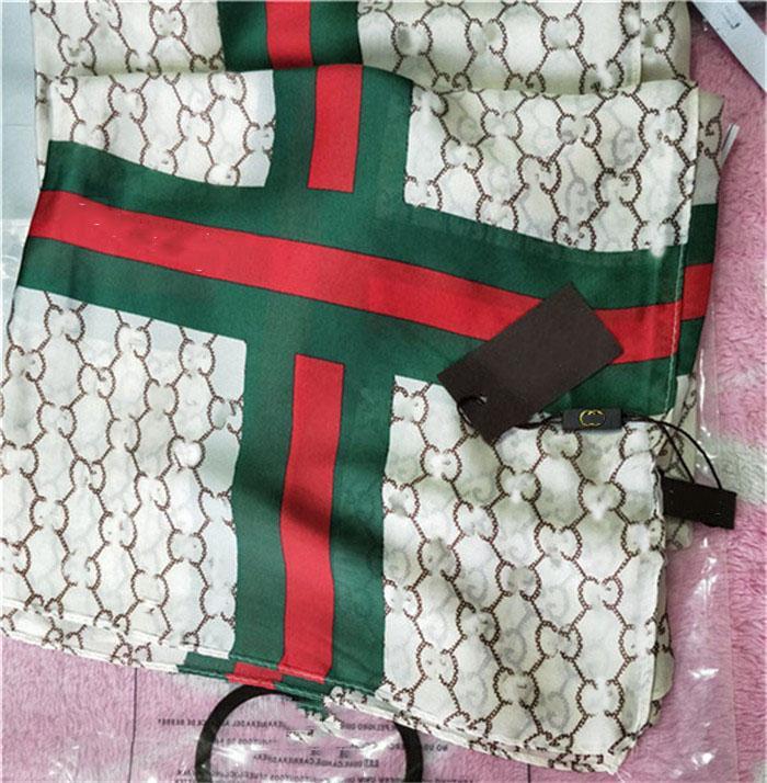 Sciarpa di seta Donne Lettera di Lusso Stampa Scarpe lunghe Sciarpe di Estate Lovely Wrap Scialli per la donna Scialle parasole