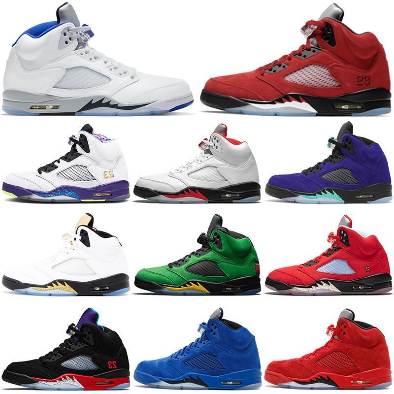 air jordan 5 retro 5s مع أحذية كرة السلة للرجال BOX ، حذاء Jumpman 5s المناسب للرجال في الهواء الطلق