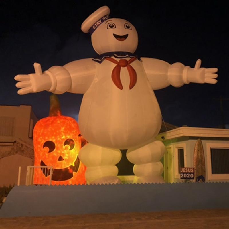 Orient المطاطية العملاقة تعزيز نفخ البقاء puft marshmallow رجل ghostbusters هالوين شبح شخصية