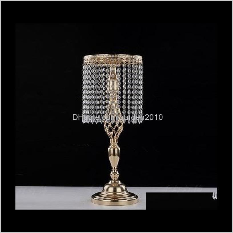 Holders 70Cm Rhinestone Candelabra Party Elegant Candle Holder Pretty Table Centerpiece Vase Stand Crystal Candlestick Wedding Decor B Z2Viu