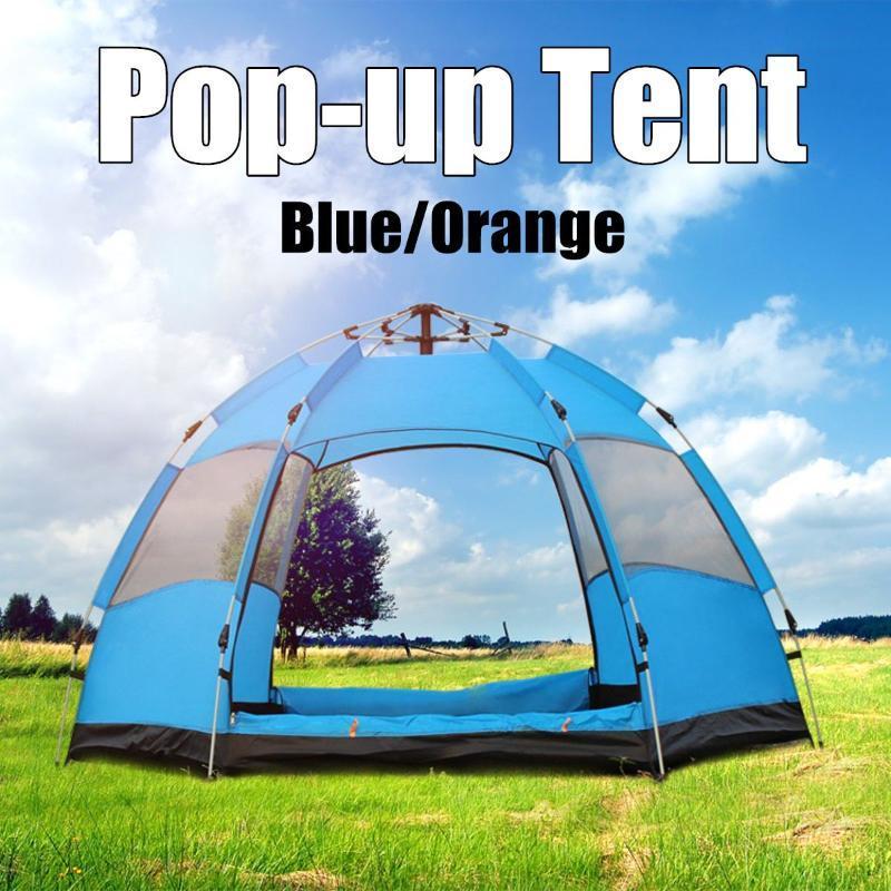 Tienda de camping automática 5-8 persona Configuración fácil de excursiones al aire libre Playa Anti-UV Protección solar Refugio con bolsa de almacenamiento Tiendas y refugios