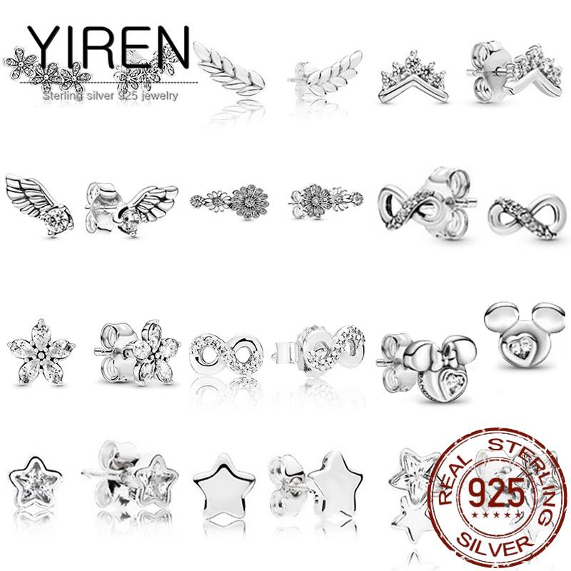 925 silver earrings 2021 ladies jewelry gifts fashion simple compact and versatile temperament party wedding couple engagement bride