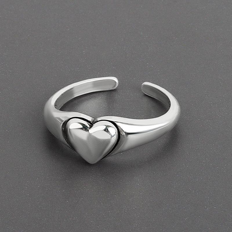 Make old love women's net red fashion peach heart ring