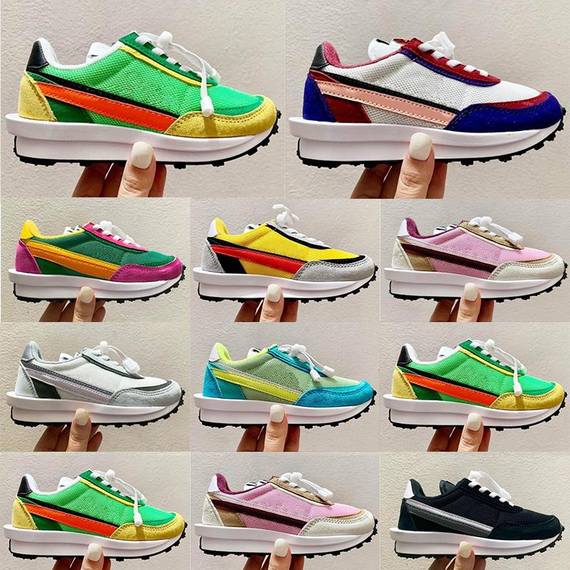 Infants Toddlers Kids shoes Sacaily Waffles Pack Running Pine Yellow Green Gusto Sc LDV Waffle for Childrens Girls Youth