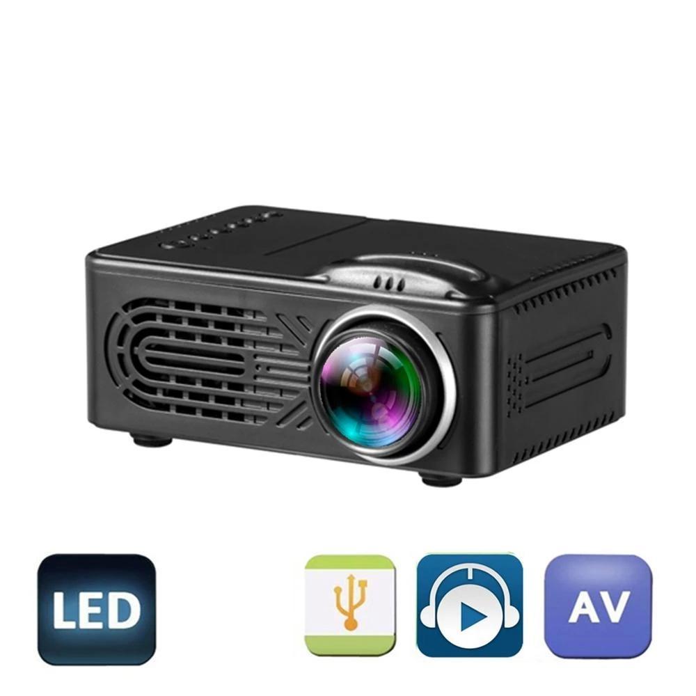미니 LED 프로젝터 RD 814는 1080p HD 400 루멘을 지원합니다. 멀티 인터페이스 USB AV TF 하우스 미디어 플레이어 320x240 픽셀