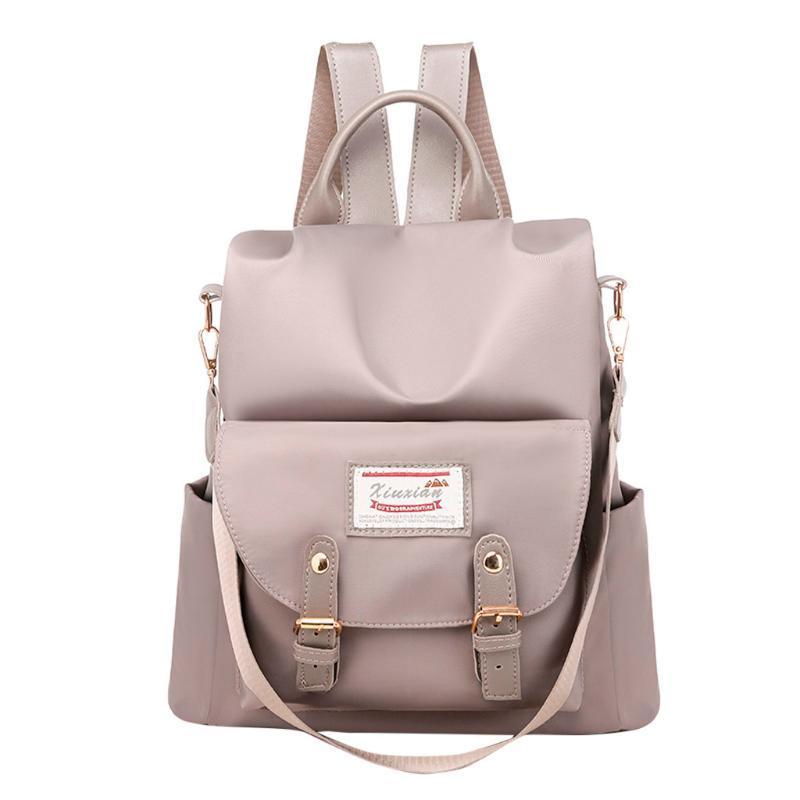 야외 가방 여성 안티 도난 패션 여성 단색 컬러 용량 학생 배낭 여행 커플 가방 청소년 어깨