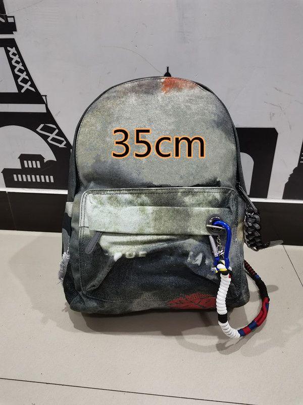 디자이너 배낭 클래식 낙서 스포츠 레저 배낭 망 및 여자 캔버스 위장 핸드백 대용량 schoolbag 35cm