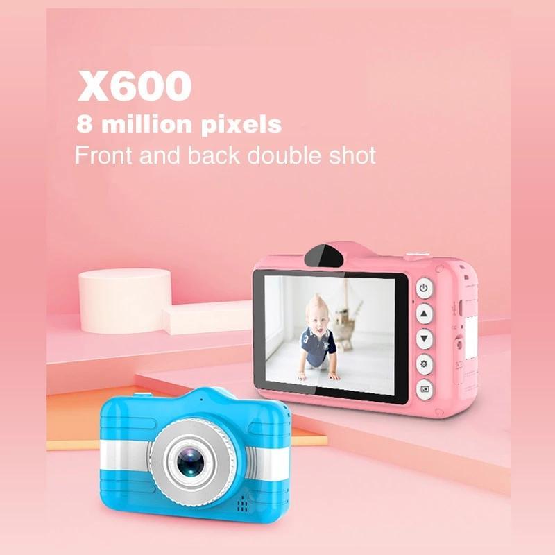 Çocuklar Dijital Kamera 3.5 inç Sevimli Karikatür Kamera Oyuncaklar Çocuk Doğum Günü Hediyesi 12MP 1080 P Fotoğraf Video Cam Erkek Kızlar için