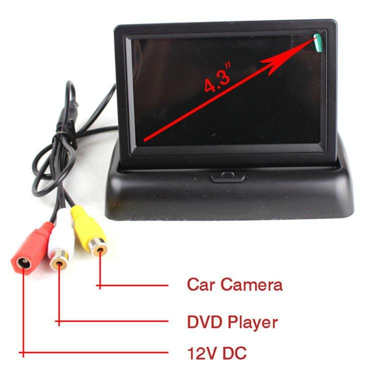 Car Video Foldable Digital TFT LCD Screen Monitor For Rear View Reversing Camera Or DVD Support NTSC / PAL