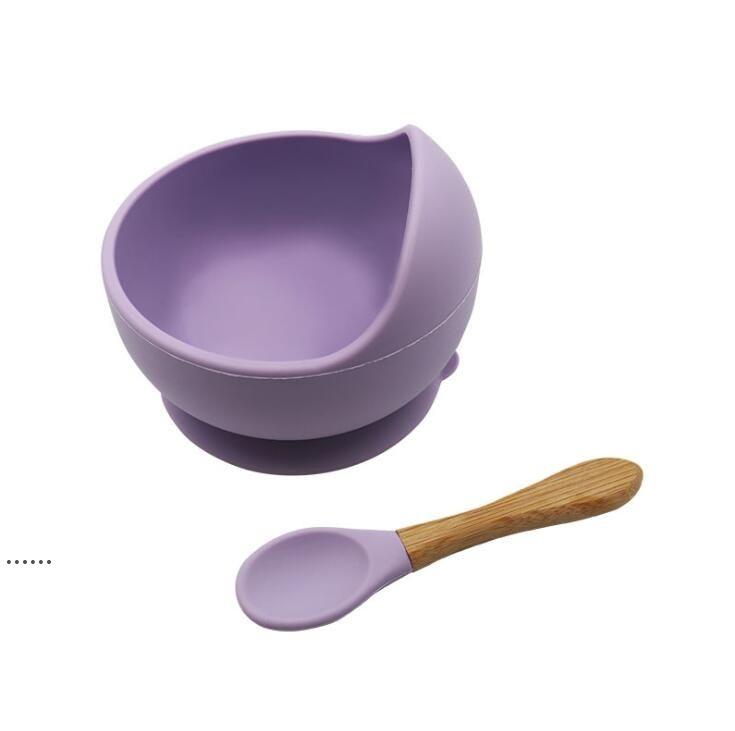 Детская силиконовая чаша ложка материнского младенца кормления столовые приборы всасывающая чашка комплементарная еда шара капельница силиконовая чаша набор HHD6293