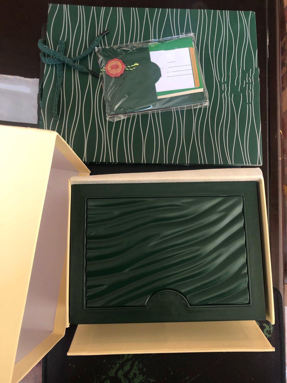 Qualität Luxus mans Armbanduhren Boxen Schweizer Top Marken Original Green Box Papier Für Rolex Uhr Booklet Karte in englischer Männer Großhandel