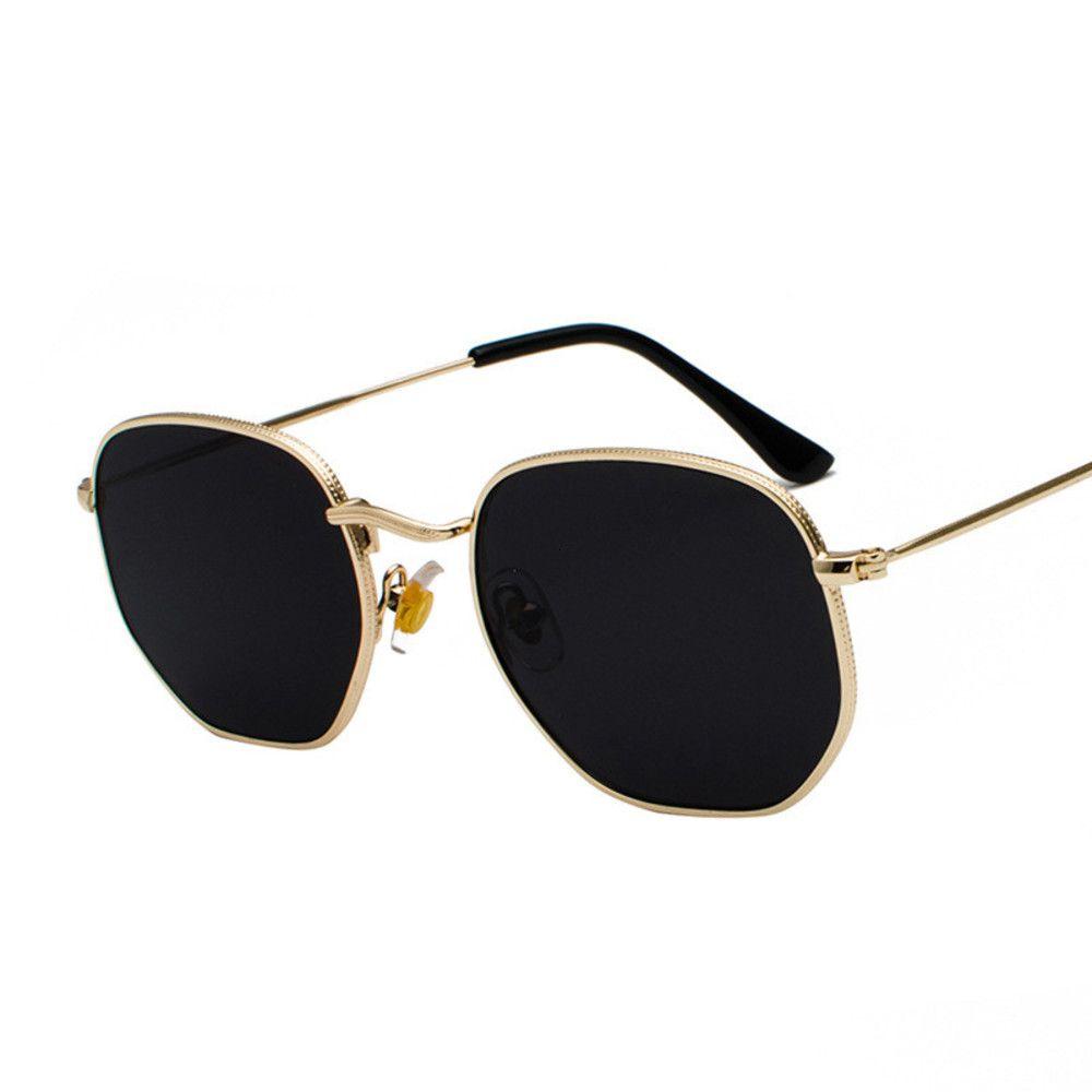 Óculos de Sol Metais Do Vintage Homens Designer de Marca Óculos de Sol Mulheres Clássico Feminino Condução Eyewear UV400 OCULOS O Sol Masculino