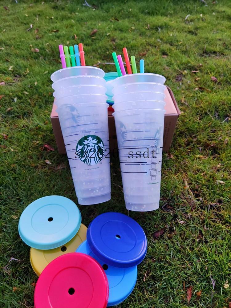 Starbucks Food Grade Exquisite Farbwechselbecher Hohe Transparenz Farbwechselbecher und Kaffeetassen