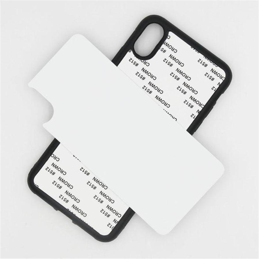 Blank 2D Sublimation Case TPU+PC Heat Transfer Phone Cases Ful Cover iPhone 12 Mini 11 Pro Max for Samsung with Aluminum Inserts BYL0