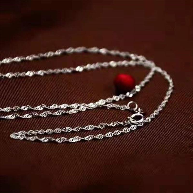 """10 adet Su Dalgaları Zincirler 1.2mm 925 Ayar Gümüş Kolye Zincirleri 16 """"-30"""" SH540 Q2"""