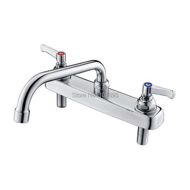 Kitchen Faucets Luxury Deck Mounted Brass Material Double Handle Mixer