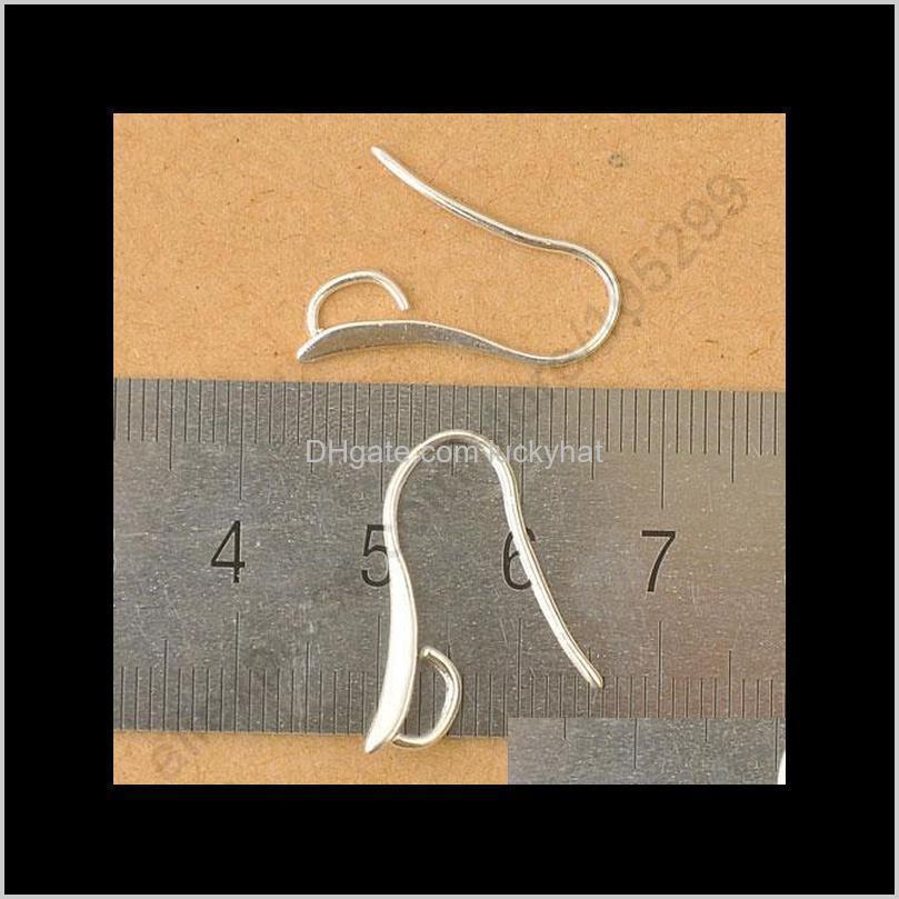 Class Hooks 100x Fabricación de bricolaje 925 Hallazgos de la Joyería Sterling Sierling Sterling Pizarra Pizarra Liquilibrio Fianza para los cables de las piedras de cristal 4BPUH GLDK7