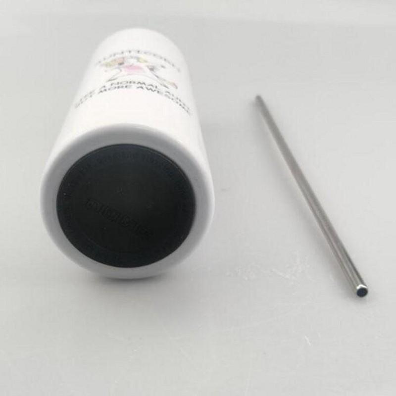 Dritto!!! Tumblers di sublimartioni di Dy 20oz con bottoni in gomma paglia in acciaio Bottom in acciaio inox tazza di caffè tazza da caffè in sublimazione