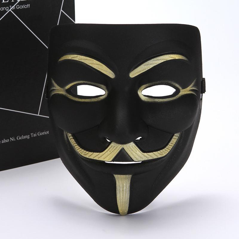 Máscaras de fiesta 2021 Eyeliner V para la máscara vendetta Cosplay Costume accesorio divertido Halloween Mascarada Horror 10 PCS / LOT
