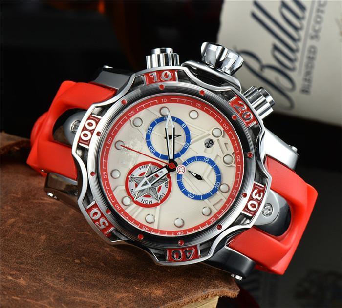 남자 스포츠 군사 실리카겔 손목 시계 남자를위한 최고의 브랜드 캐주얼 패션 시계 남자 시계 크로노 그래프 Relojes Hombre