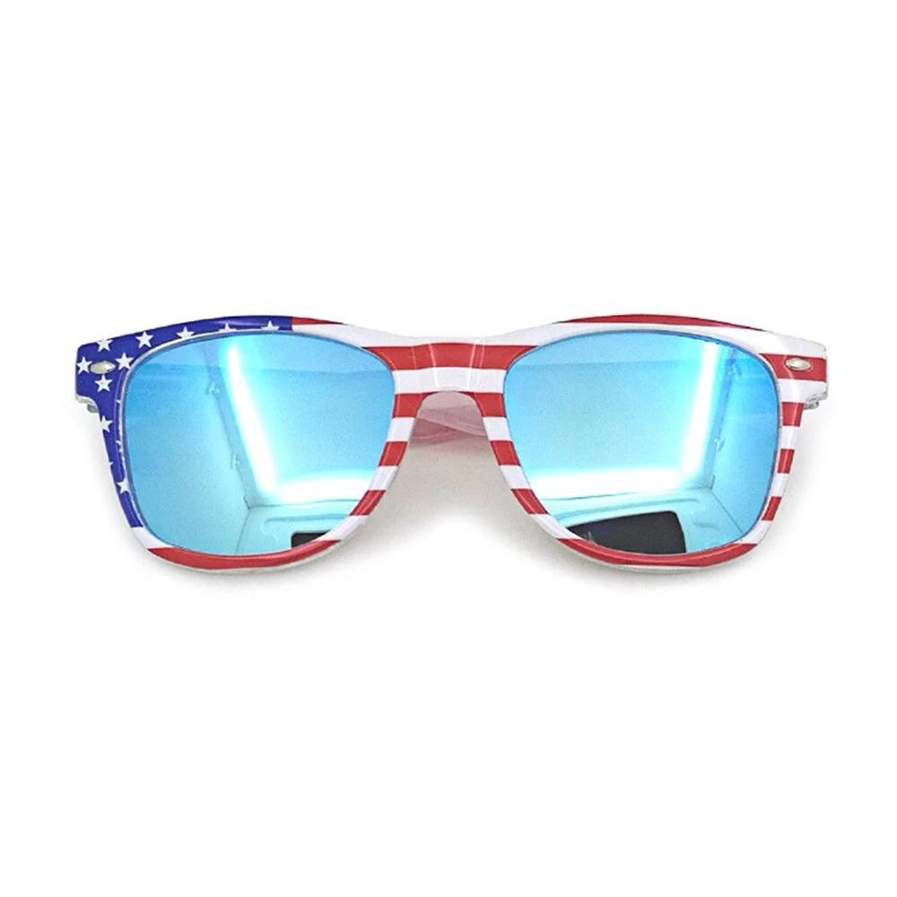 Unisex Patriotic Polarspex Polarized 80's Retro Trendy Stylish Sunglasses - Blue