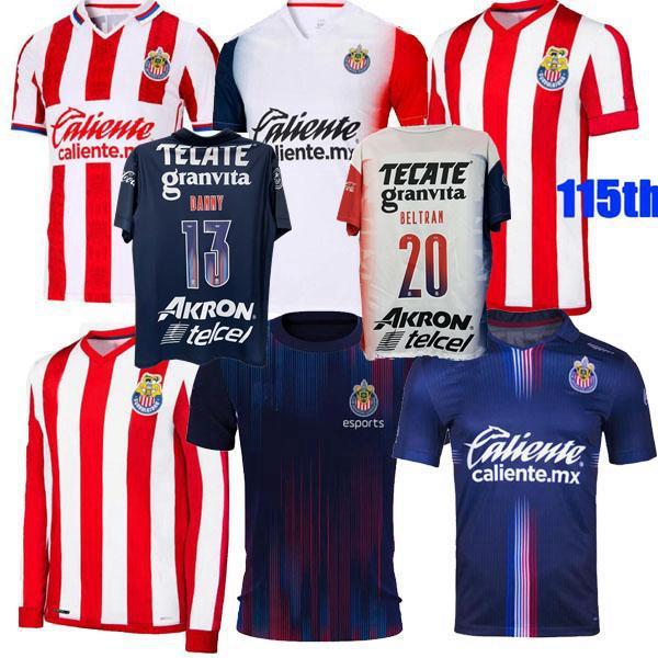 2021 2022 Guadalajara Futebol Jerseys Chivas Regal Macias I.Brizuela A.Vega Home Away 3Rd 20 21 22 115º Futebol Camisa Mulheres S-3XL