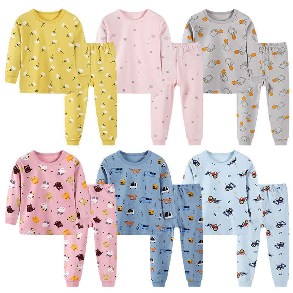 Pajamas Totrouse physiques, Set de sous-vêtements: Enfants d'automne Dessin animé Home Tissu, pour garçons et filles
