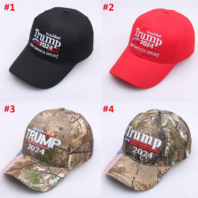 Трамп 2024 камуфляжная шапка вышитая бейсбольная шляпа с регулируемым ремешком
