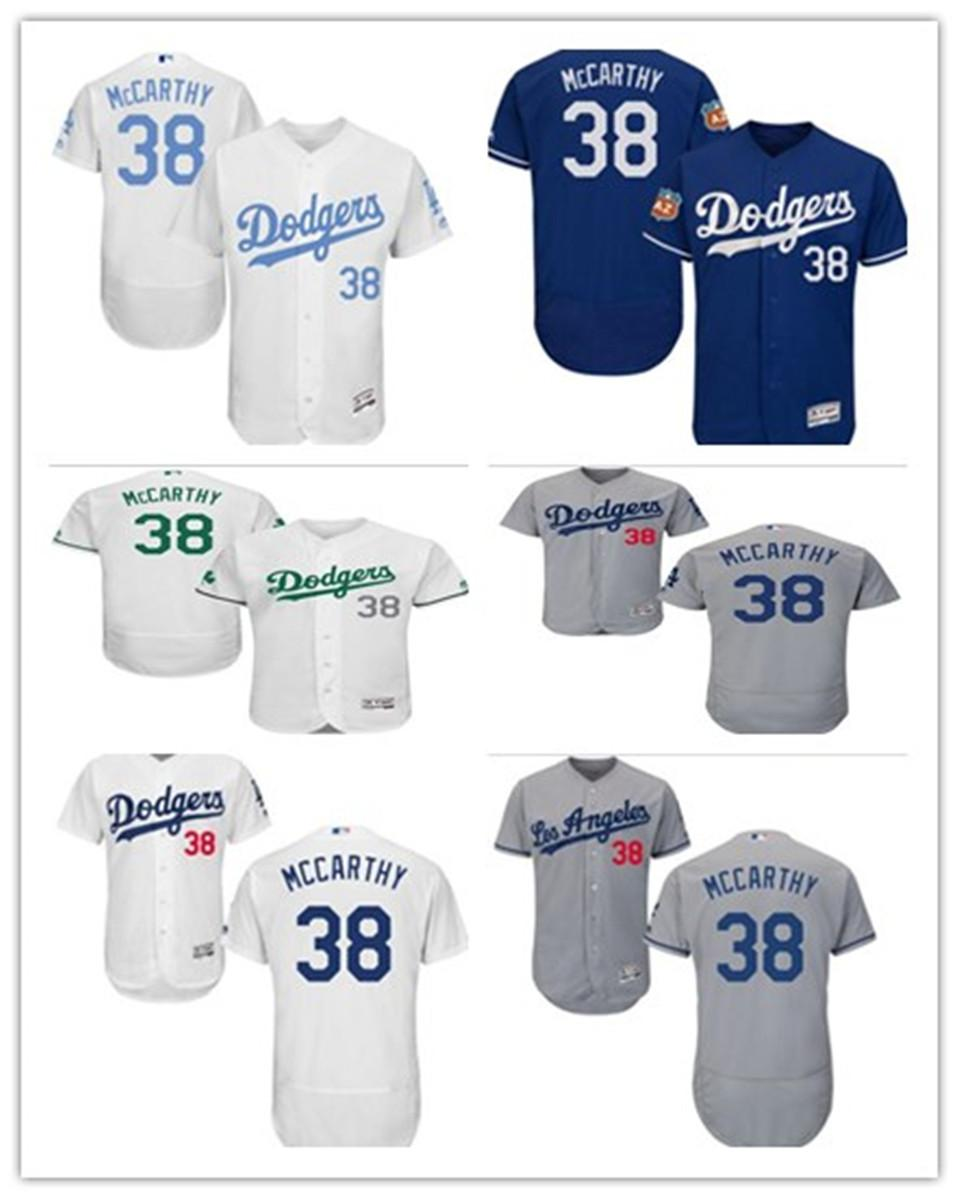 custom free ship Baseball Jerseys Los Angeles 38 Brandon McCarthy Los AngelesDodgers Dodgermen women youth red white high-quality jersey