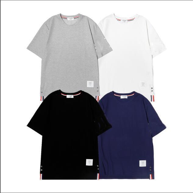 2021 Neue Pullover Rundhals Kurzarm T-Shirt Frauen Casual Lose T-Shirt Herren Baumwolle Bottoming Hemd