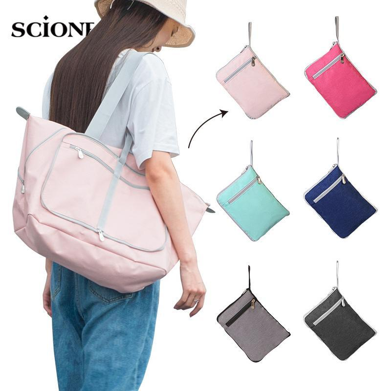 Outdoor Bags Foldable Portable Gym Bag Travel Light Luggage Handbag Fitness Sports Shoulder Pack Gymtas Tas Sac De Sporttas 2021 XA875WA