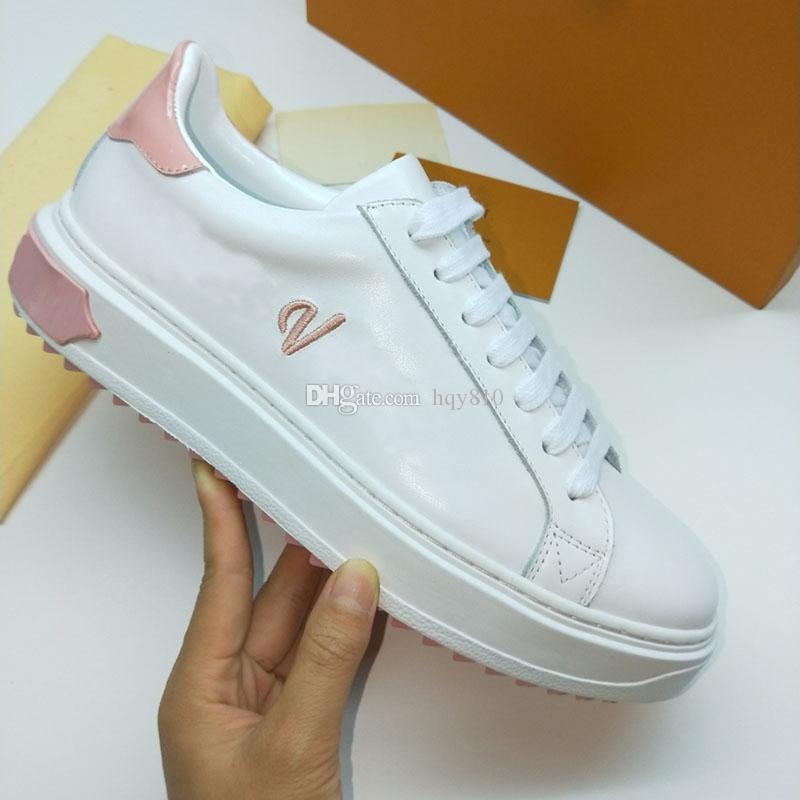 Zapatillas de salida de las zapatillas de salida de las mujeres zapatos de lujo de cuero genuino Marca de moda zapato casual para mujer Tamaño 35-41 Modelo HY311