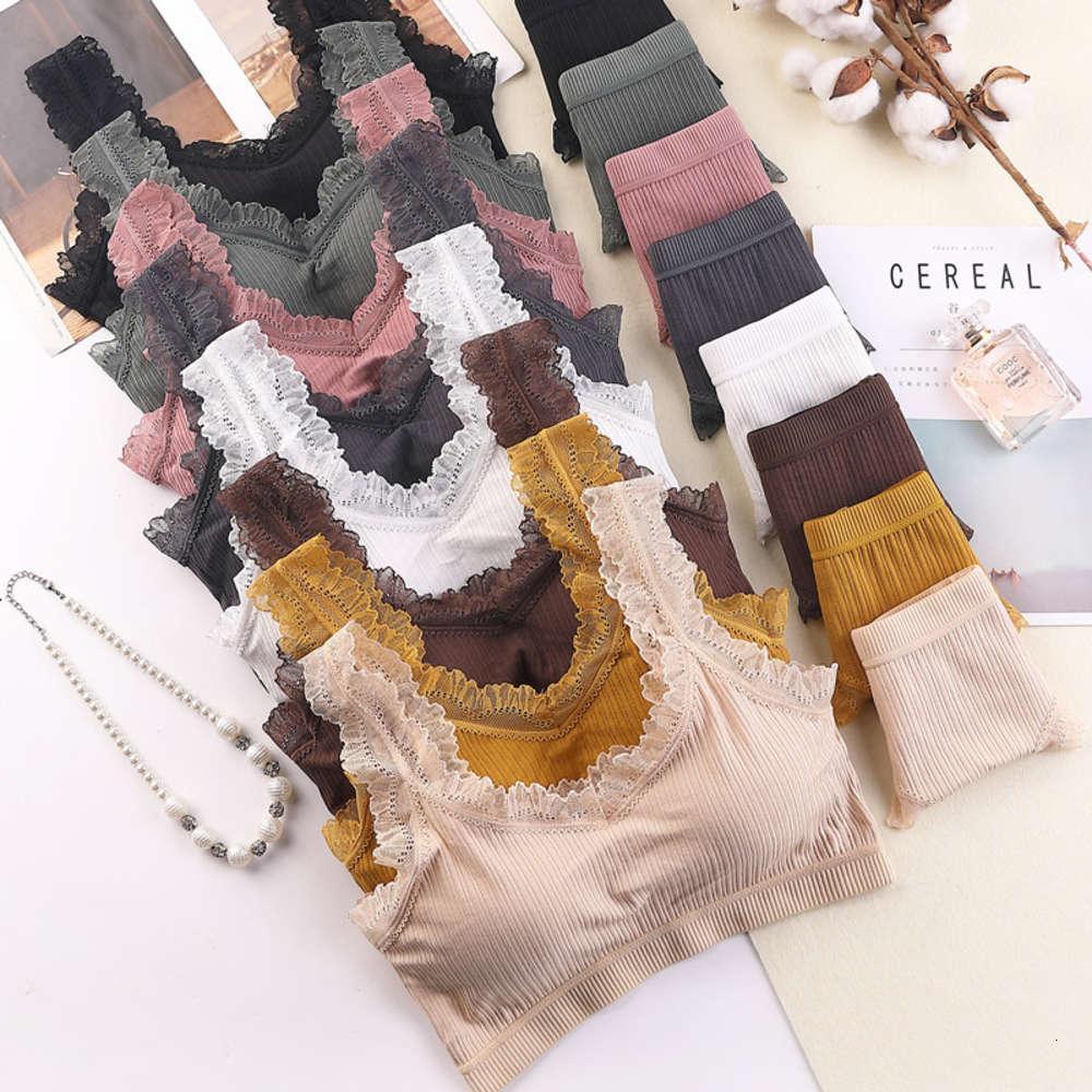 2021 Neue Thread Baumwolle, umwickelte Unterwäsche mit BH-Kissen