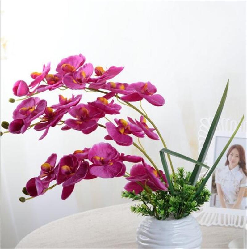 10 قطعة / الوحدة نيفيليك الاصطناعي فراشة السحلية زهرة الحرير phalaenopsis الزفاف المنزل diy الديكور وهمية الزهور 1464 v2