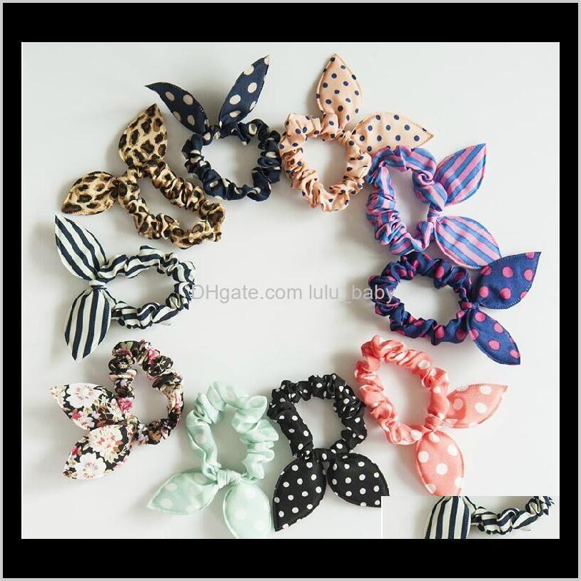 10 adetgrup Mix Stil Klipler Hairband Polka Dot Leopar Gezi Halat Tavşan Kulakları Şapkalar Kravat Kız Saç Aksesuarları 3B4T8 OQAD0