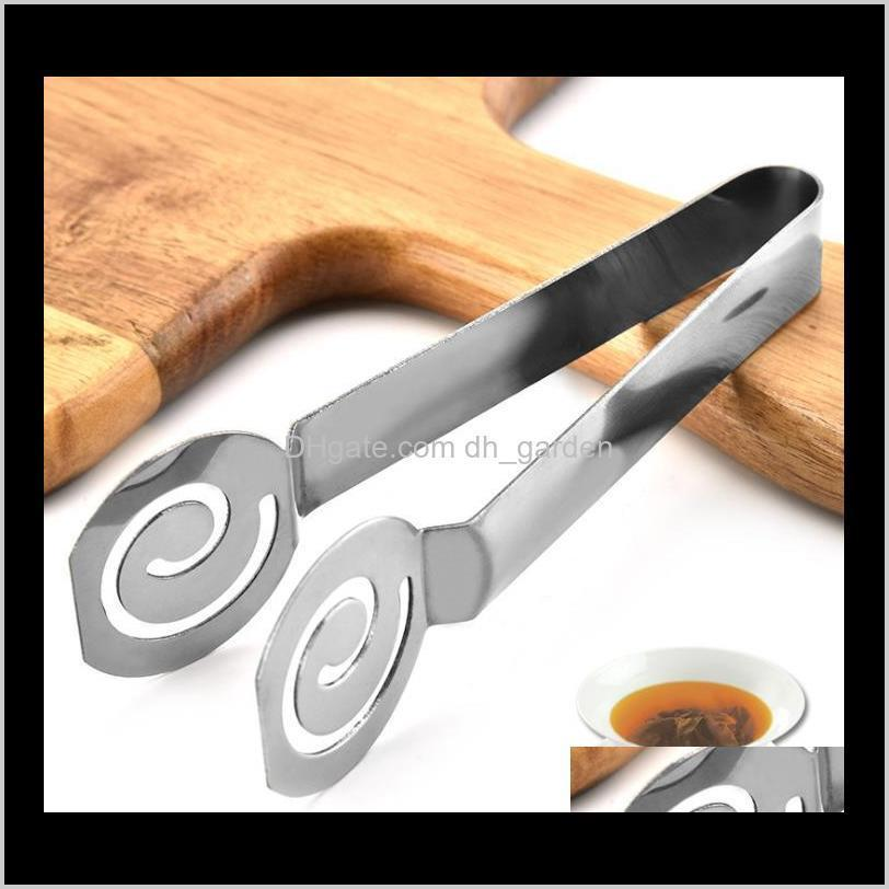 Coffee Tools Drinkware Kitchen Dining Bar Home Garden Drop Delivery 2021 Teabag Squeezer Holder Grip Metal Mini Sugar Bbq Clip Leaf Strainer