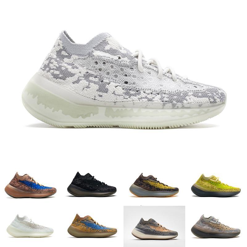 Womens 2021 Herren Kanye West 380 Sneakers Azure Hylte Glow Schwarz Lila Alien Blauer Hafer Pfeffer Reflektierende Laufschuhe