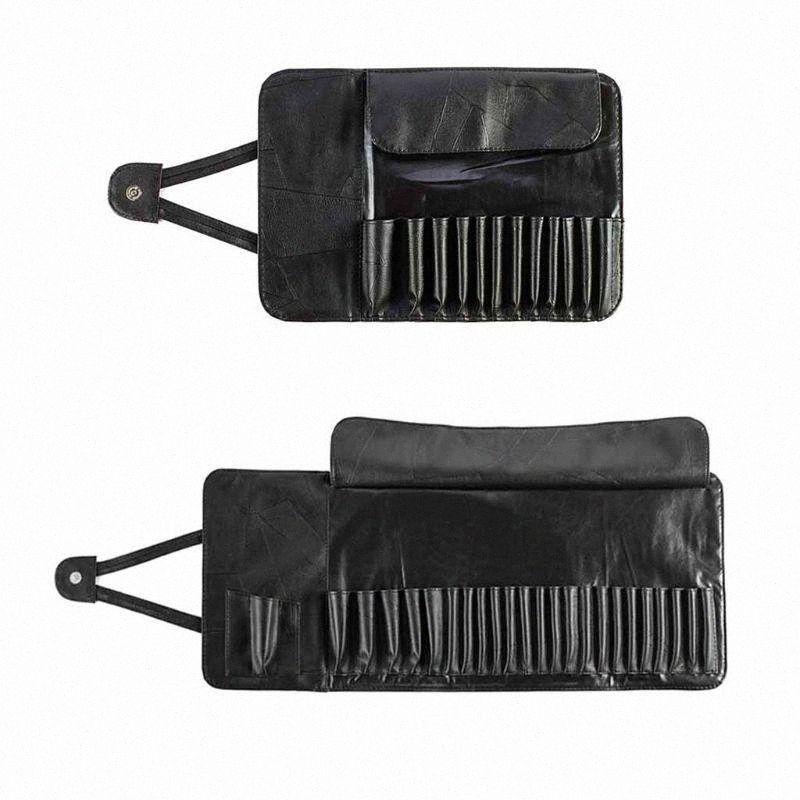 12/24 Slot Unisex Katlanabilir Makyaj Fırça Tutucu Kozmetik Organizatör Haddeleme Çantası Durumda Saklama Kabı Kılıfı Çanta E03C #