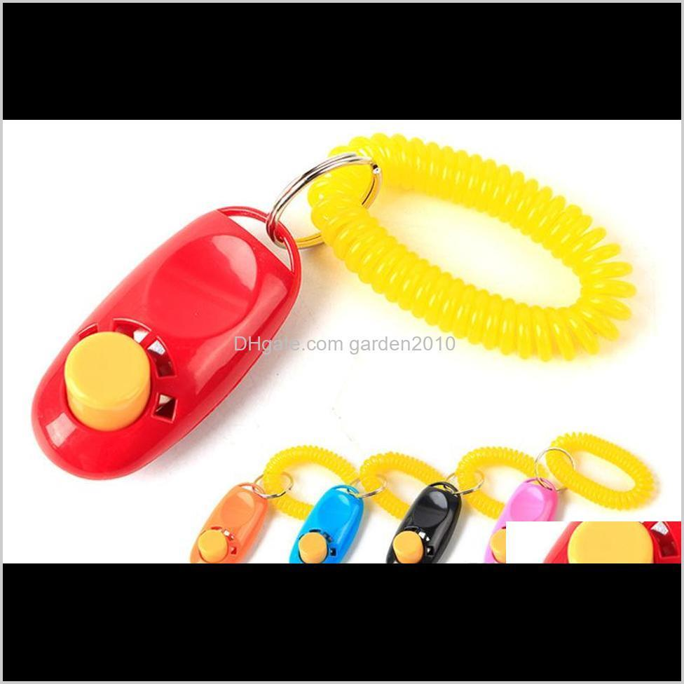 & Obedience Pet Training Tool Remote Portable Animal Dog Button Clicker Sound Trainer Control Wrist Band Accessory 3Oyqm Jqeim