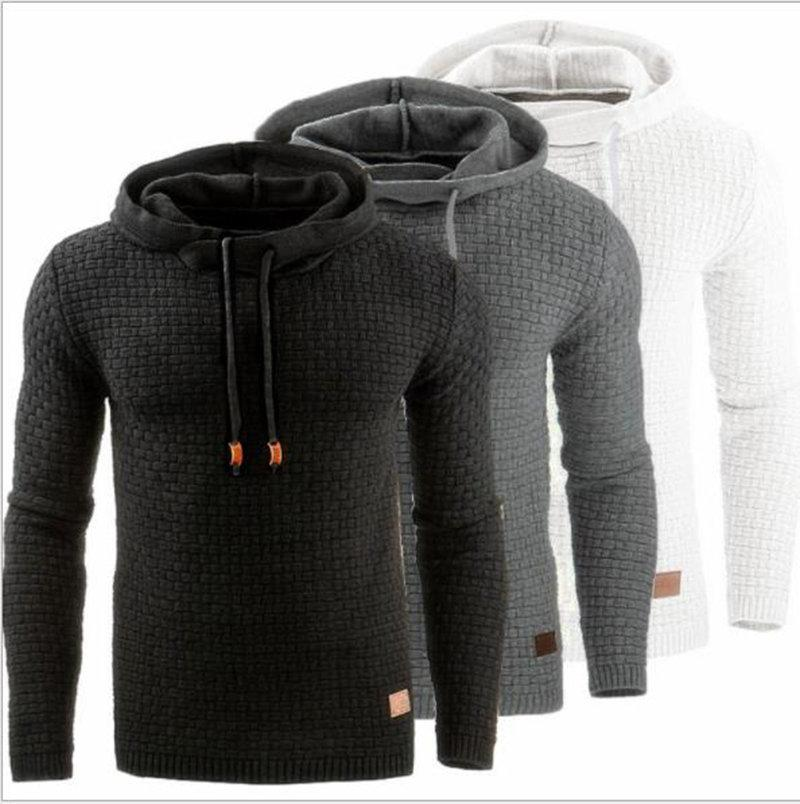 Mens Hoodies Men's Fashion Clothing Solid Color Long Sleeve Casual Pullover Street Hip Hop Youngth Sweatshirt Jumpers Winter 2021